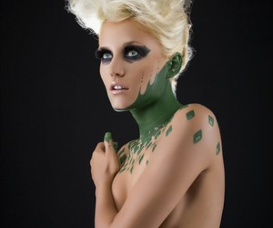 avant garde, fashion photography, and green image