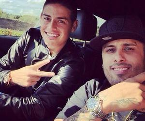 james rodriguez, nicky jam, and real madrid image