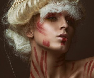 avant garde, fashion photography, and red image