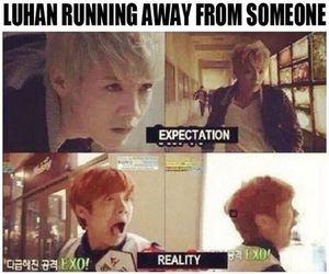 luhan, exo, and funny image