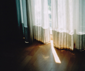 indie, curtains, and light image
