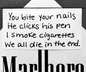 cigarette, marlboro, and smoke image