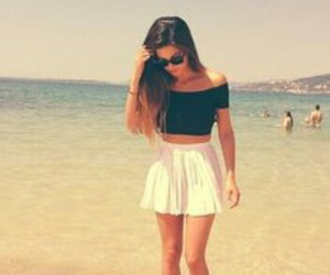 beach, fashion, and skirt image