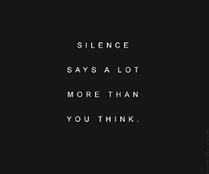 quote and silence image
