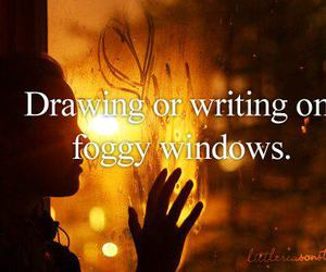 drawing, foggy, and text image