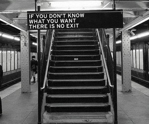 exit, quote, and stairs image