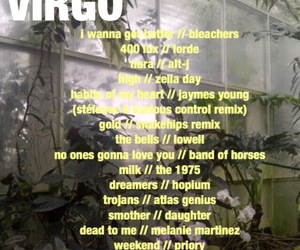 astrology, playlist, and tumblr image