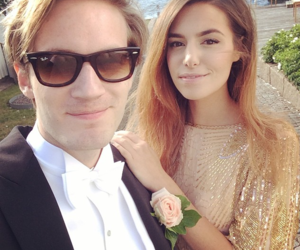 pewdiepie, cutiepiemarzia, and couple image