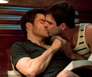 gay, james franco, and zachary quinto image