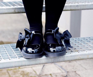 black, dr martens, and mariel shoes image