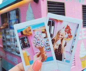 pink, summer, and ice cream image