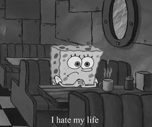 black and white, hate, and sponge image