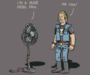 metal, funny, and fan image