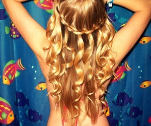 amazing, blond, and fishes image