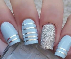 beautiful, nails, and love image