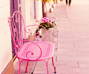 pink and chair image