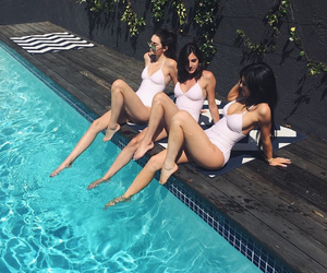 pool, summer, and kylie jenner image