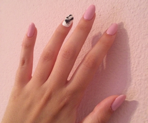 black & white, nails, and oval image