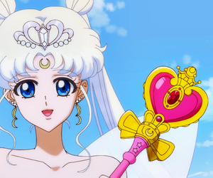 sailor moon crystal, neo queen serenity, and usagi image