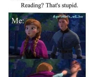 book, frozen, and reading image