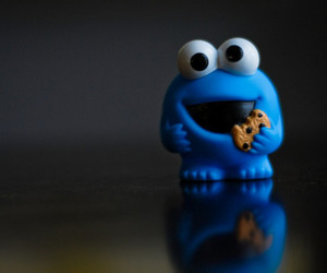 cookie monster, blue, and cookie image