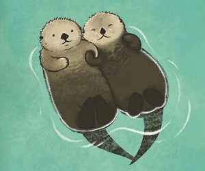 animals, otters, and ^^ image