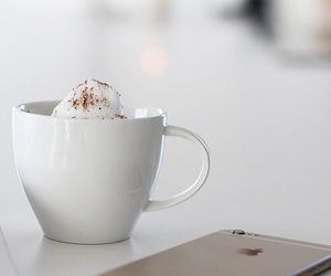 iphone, coffee, and white image