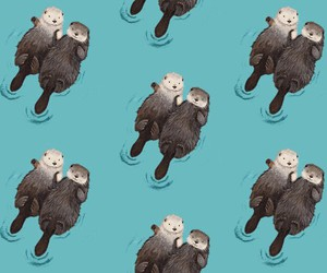 animals, otters, and wallpaper image