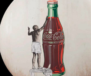 cocacola, moon, and night image