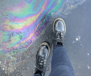 grunge and rainbow image