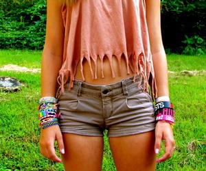 fashion, bracelet, and shorts image