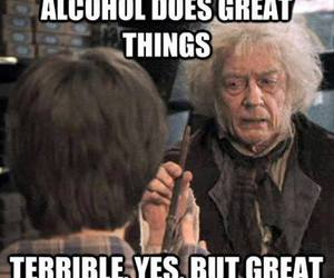 alcohol, harry potter, and funny image