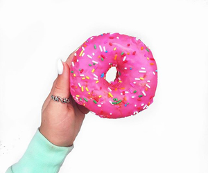 color, donuts, and food image