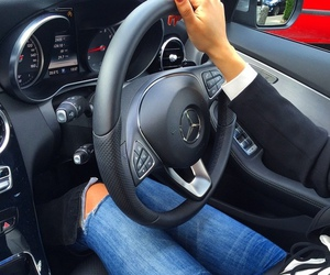 girl, luxury, and mercedes image