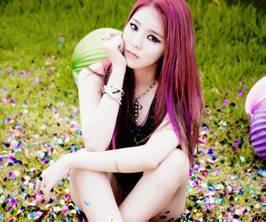 colors, korean, and red hair image