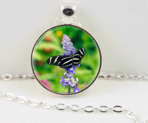 butterfly necklace, butterfly pendant, and spring necklace image