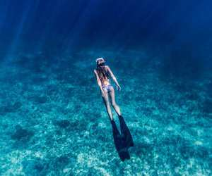 sea, blue, and underwater image