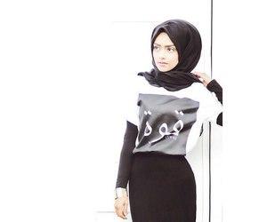 hijab, islam, and hijab style image
