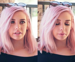 beauty, grunge, and pink hair image