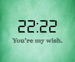 green, 22:22, and wish image