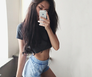abs, brunette, and fashion image