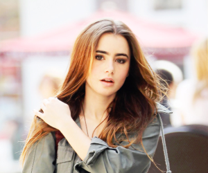 lily collins, pretty, and hair image