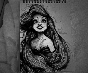 ariel, art, and black and white image