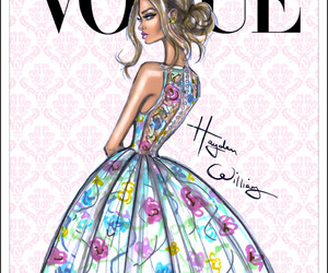vogue, art, and dress image