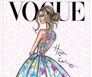 vogue, art, and dress image