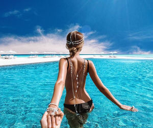 beach, beautiful, and Relationship image