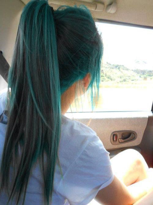 blue, green, and hair image