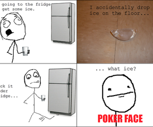 funny and poker face image