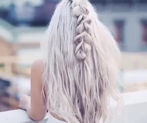 fashion, grey, and hair image