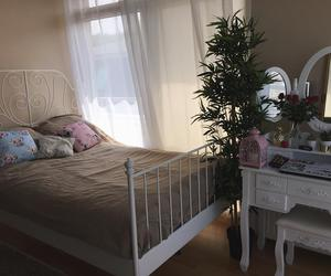 bed, home, and stylish image
